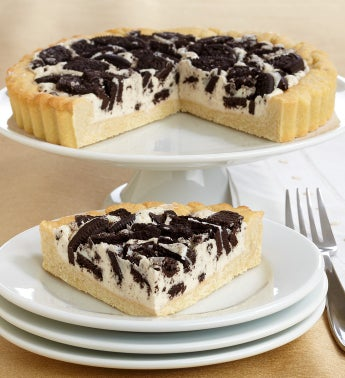 Irresistible OREO Black  White Cookie Pie