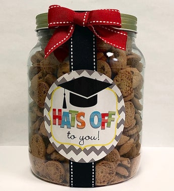 Hats Off to You Grad Chocolate Chip Cookie Jar