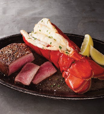 Surf  Turf Filet  Lobster Tail - Stock Yards