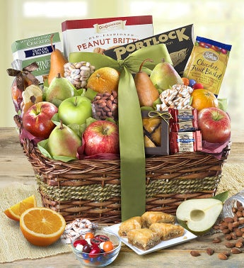 Kosher Fruit  Sweets Gift Basket