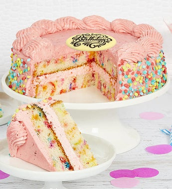 Bake Me a Wish Birthday Strawberry Funfetti Cake
