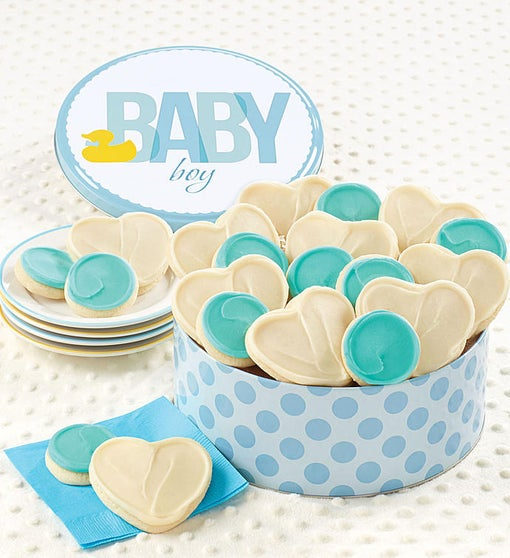Cheryl's Baby Boy Ducky Cookie Tin