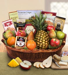 Ripe River Fruit  Cheese Gift Basket