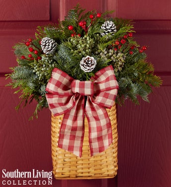 Evergreen Hanging Basket by Southern Living