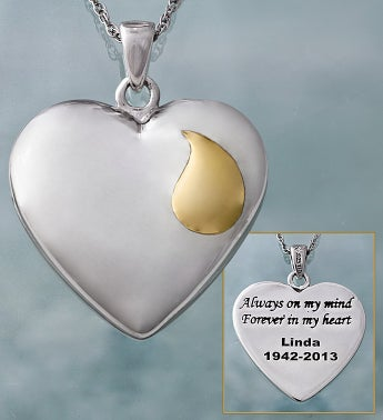 Personalized Memorial Heart Necklace