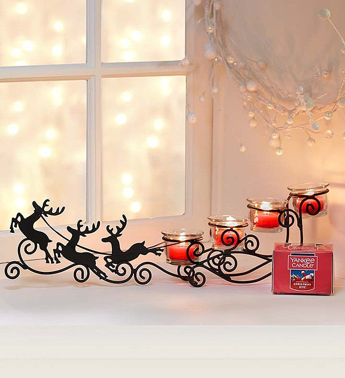 Reindeer Sleigh  Yankee Candle Tea Light Set