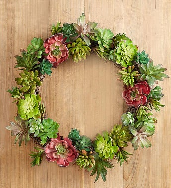 Faux Succulent Wreath-14