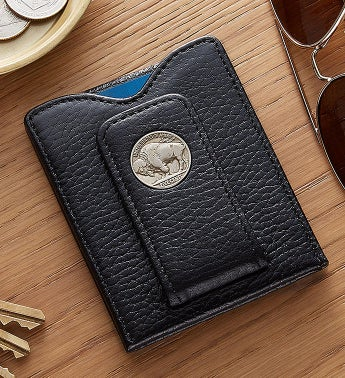 Fathers Day Buffalo Nickel Money Clip Wallet