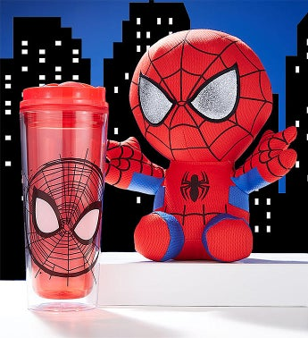 TY Spiderman Plush and Drinkware