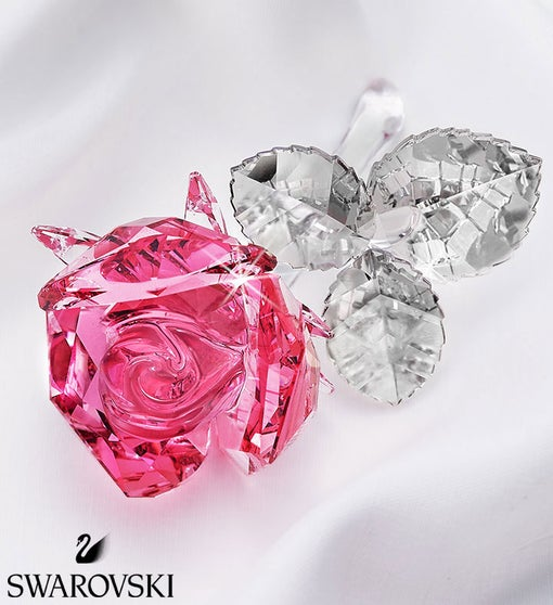 Swarovski® Blossoming Pink Rose