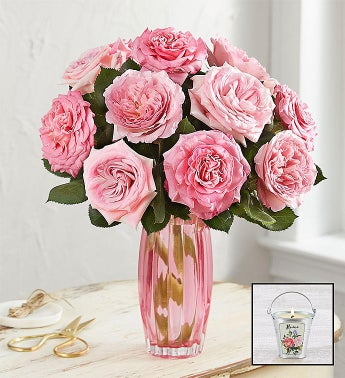 English Garden Rose Bouquet Pink