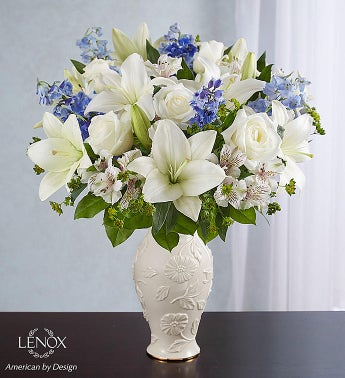 Loving Blooms Lenox Blue  White