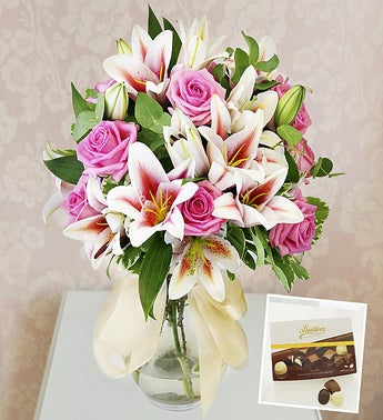 Luxury Roses  Lilies  Chocolates