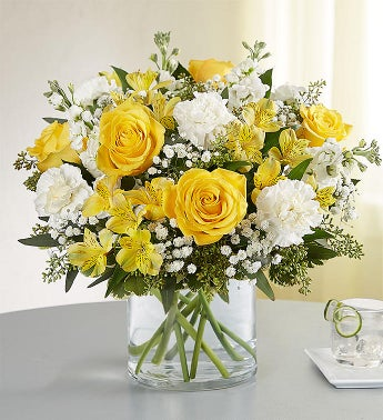 Yellow  White Delight Bouquet