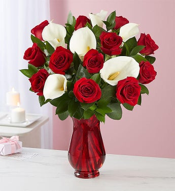 Red Rose  Calla Lily Bouquet for Mothers Day