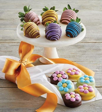 Spring Berries and Sandwich Cookie Bouquet