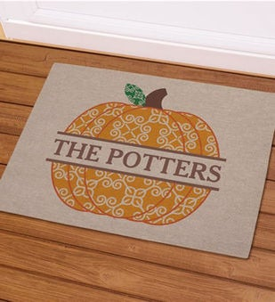 Personalized Pumpkin Doormat