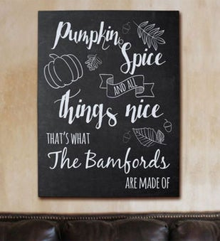Pumpkin Spice Family Wall Canvas