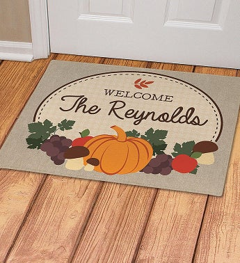 Personalized Autumn Doormat