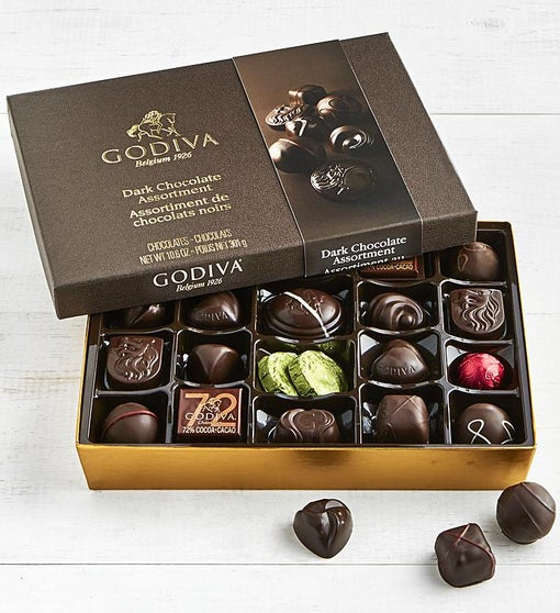 Godiva Dark Chocolate Assortment Box