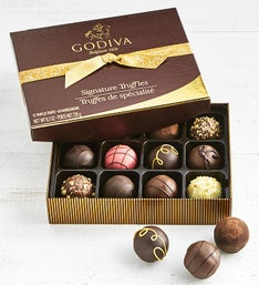Godiva Signature Truffles Box - 12 Piece