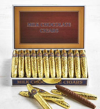 Cigar Shaped Milk Chocolates in Classic Cigar Box