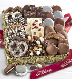 Simply Chocolate Nuts & Confections Basket