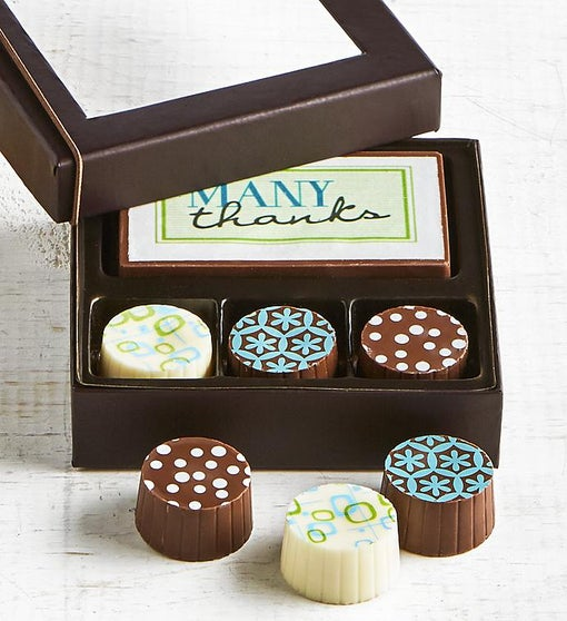 Simply Chocolate Thank You Bar & Truffles 4 pc