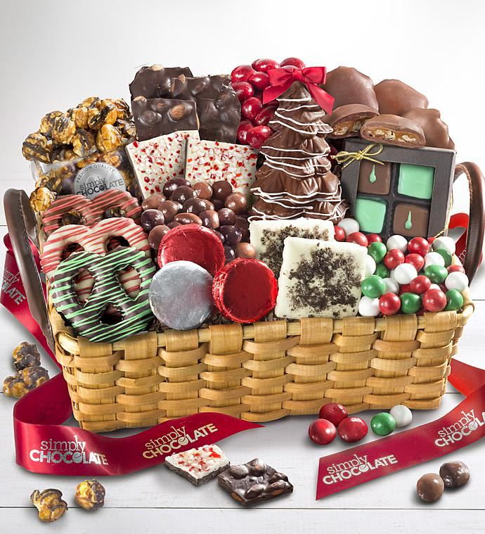 Simply Chocolate Dlxe Celebrate the Season Basket