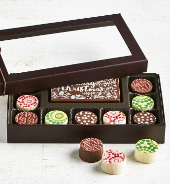 Simply Chocolate Holiday Bar & Truffles 10 pc