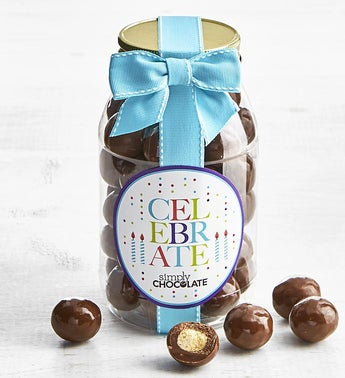 Simply Chocolate Birthday Malted Milk Balls Jar