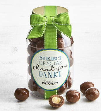 Simply Chocolate Thank You! Malted Milk Balls Jar