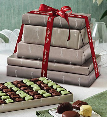 Fannie May® Platinum Wrap Chocolates Tower