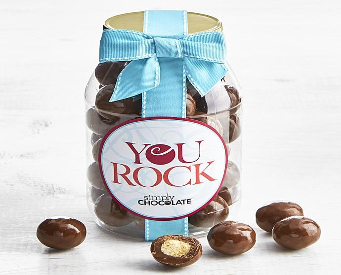Simply Chocolate You Rock! Malted Milk Balls Jar