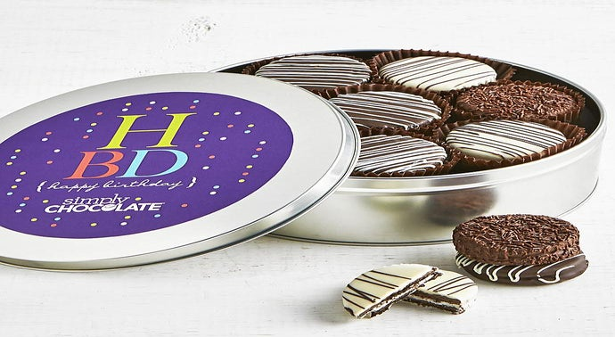 Simply Chocolate Happy Birthday OREO Tin