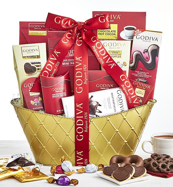 Godiva Valentine Chocolates Basket Supreme