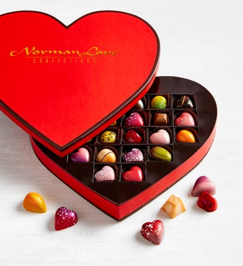 Norman Love Confections 24 pc Heart Box