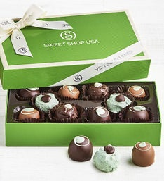 The Sweet Shop Mint Chocolate Truffles Box