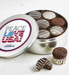 Simply Chocolate Peace Love USA OREO® Tin