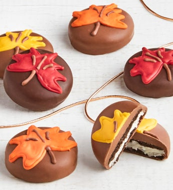 The Sweet Shop 6pc Fall Leaf OREO® cookies