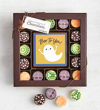 Simply Chocolate Happy Halloween Bar & Truffles