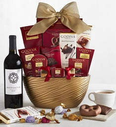 Godiva Chocolates Assortment Bowl  Merlot