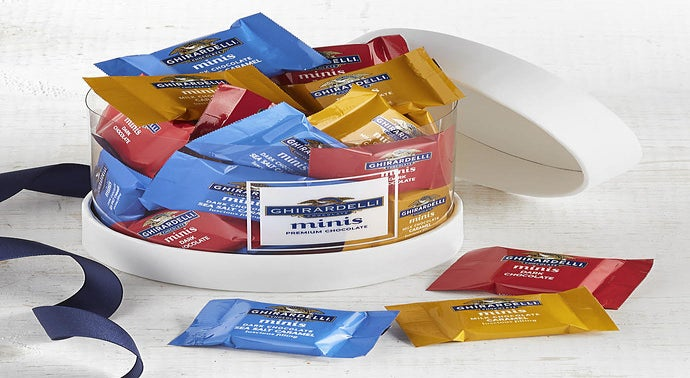 Ghirardelli Minis Chocolate Hat Box Gift