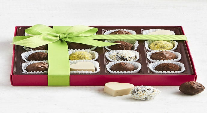 Chocopologie Assorted Artisan Truffles Box 16pc