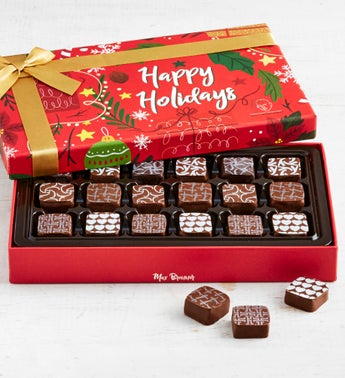 Max Brenner 18 Pc Holiday Chocolate Bon Bon Box