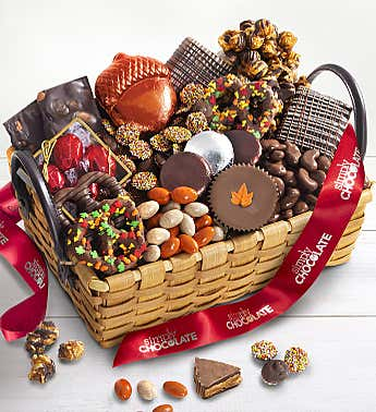 Simply Chocolate  Autumn Sweets Basket