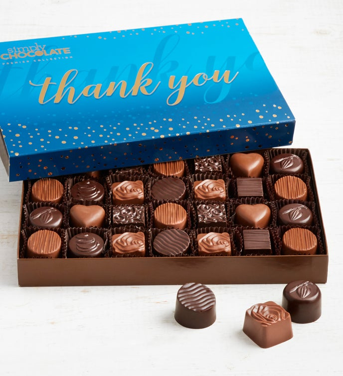 Simply Chocolate Thank You Premier Collection 28pc