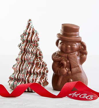 Art CoCo Milk Chocolate Snowman and Holiday Tree