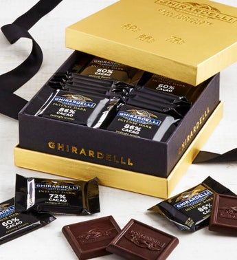 Ghirardelli Intense Dark Chocolate Gold Box 27pc