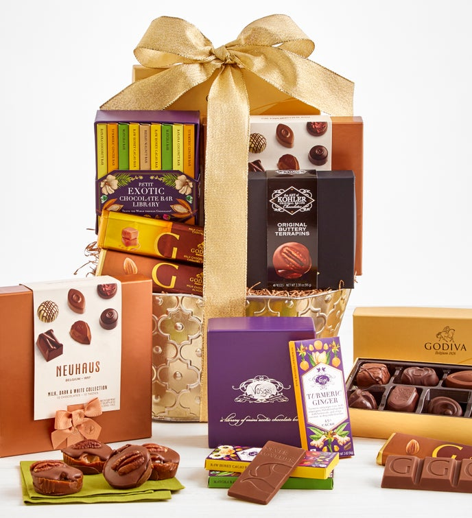 Exclusive Premier Brands Chocolate Basket - Deluxe